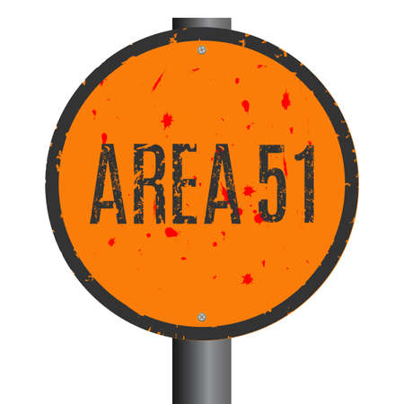 Conceptual vector illustration. Area 51 sign.