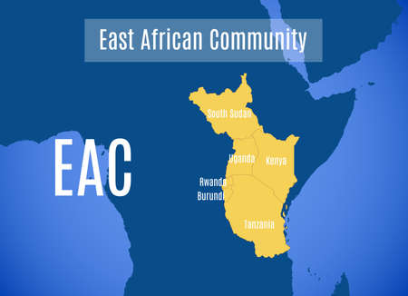 Vector map of the East African Community (EAC).