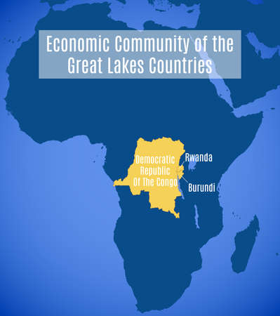 Map of the Economic Community of the Great Lakes Countries (ECGLC). Çizim