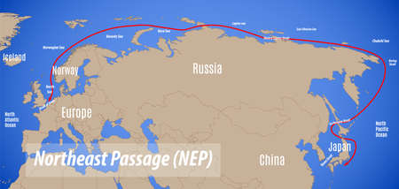 Schematic vector map of the Northeast Passage (NEP).