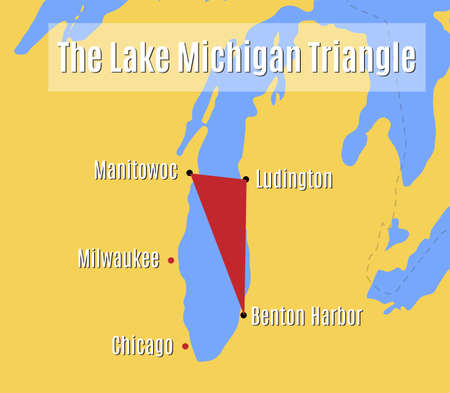 The Lake Michigan Triangle map.