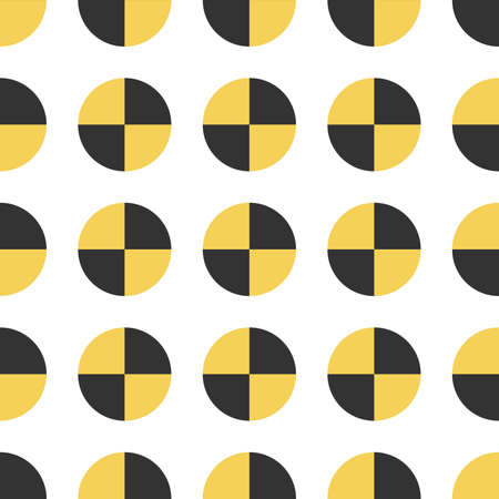Seamless texture of crash test sign. Vector pattern. Illustration