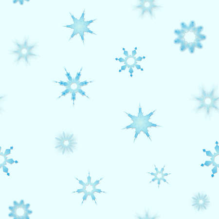 Seamless winter texture. Winter snowflake background. Christmas template.
