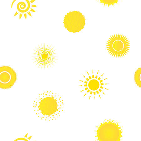 Seamless pattern with creative suns.