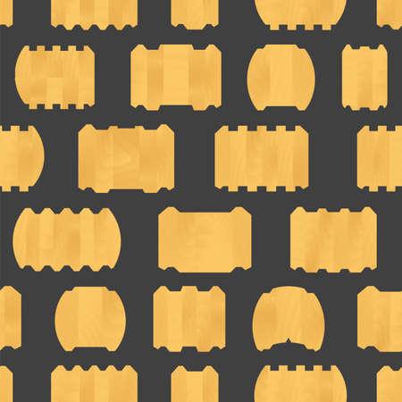 Vector wood glued log seamless pattern background.