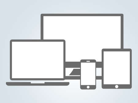 Responsive concept using modern devices photo