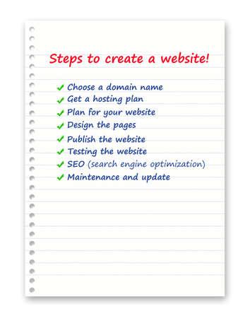 Web design steps photo