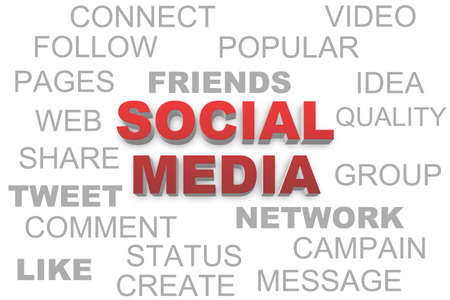 Social media most important related keywords photo
