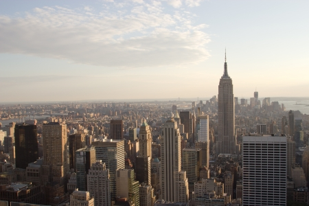 This is the skyline of midtown and downtown Manhattan, New York Stock Photo