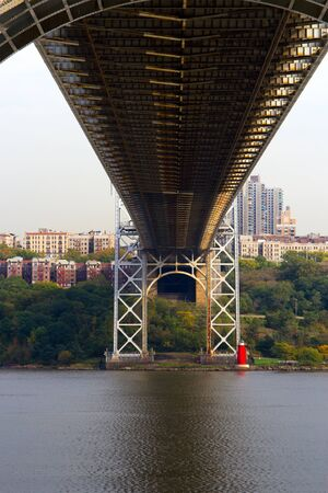 View of the bottom of the George Washington Bridge, New York and New Jersey