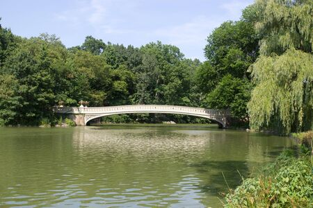 The Bow Bridge located in Central Park, Manhattan, New York