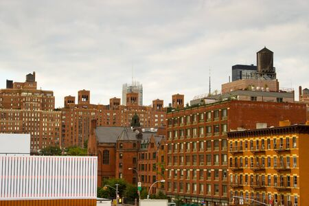 Residential and office buildings in Chelsea located in the meatpacking district of midtown Manhattan, New York