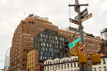 Chelsea gebouwen met een moderne architectuur in het Meatpacking District van Manhattan, New York