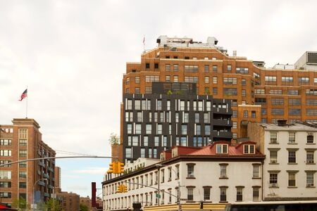Chelsea buildings with a modern architectural style in the meatpacking district of midtown Manhattan, New York