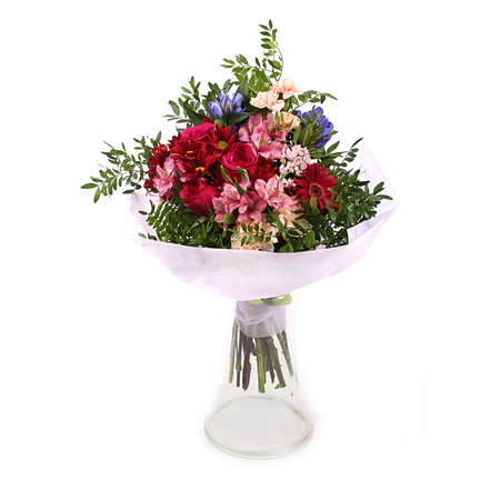 Bouquet of different green red yellow blue and purple arranged bouquet of different green red yellow blue and purple arranged in lush bouquet mightylinksfo