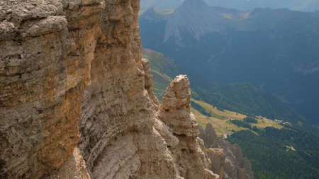 Stunning view of valley and rocks. View from the mountain. Banco de Imagens
