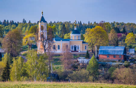 A functioning Orthodox church in the Russian hinterland.