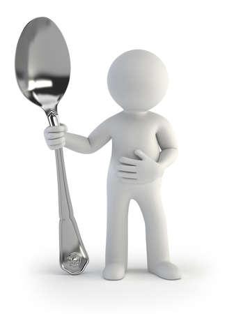 hambriento: 3d small people - Tengo hambre