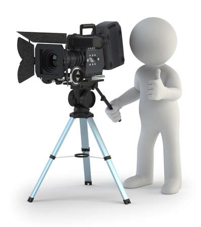 3d small people - Cameraman Stock Photo - 17379518