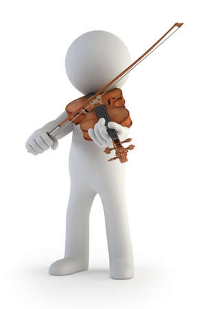 violinista: 3d small people - Violín