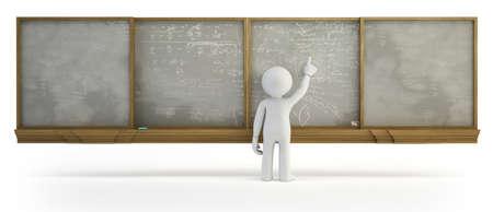 3d small people - Chalkboard