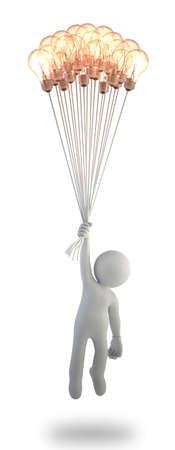 3d kleine Leute - Idee bis Standard-Bild - 17423090