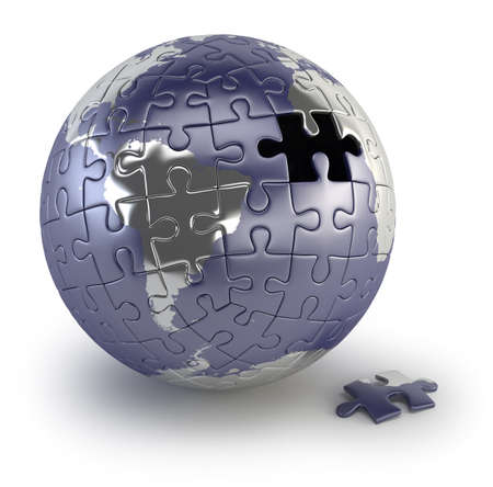 Earth of the puzzle Stock Photo - 17423124