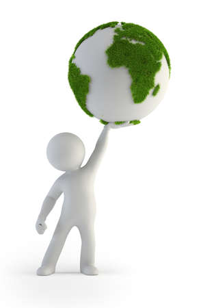 3d small people - Green Planet