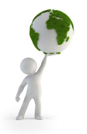 green planet: 3d small people - Plan�te verte