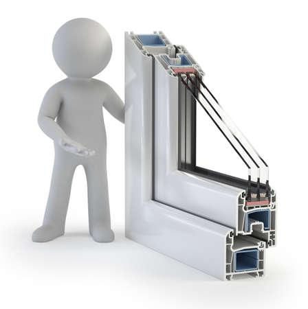 3d kleine mensen - Plastic Window profiel
