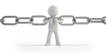 interlock: 3d small people - chain link Stock Photo