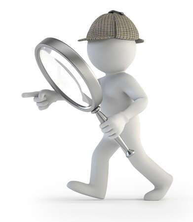 3d kleine Leute - Detektiv Standard-Bild - 17423100