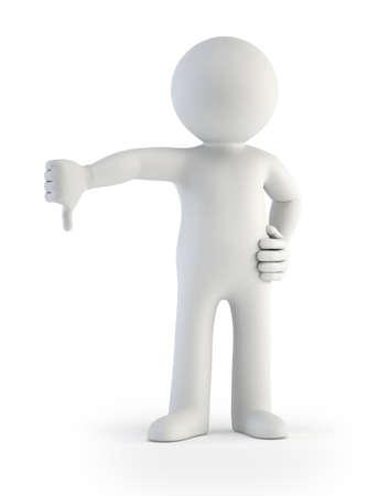 buena postura: un hombre muestra un gesto que contra Foto de archivo