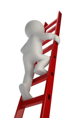 self development: 3d small people%u3000on the stairs