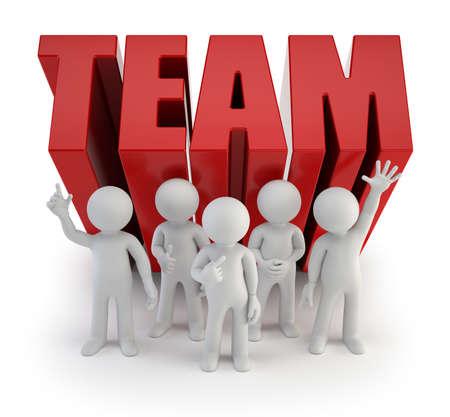 3d kleine Leute - zuverlässiges Team Standard-Bild - 30590385