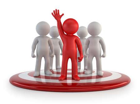 subordinate: 3d small people - team leader