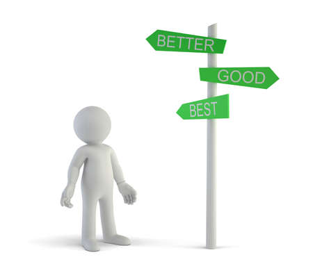 directional: 3d small people - good better best directional