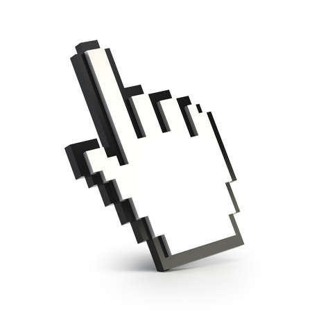 cursor: hand cursor, Isolated white background