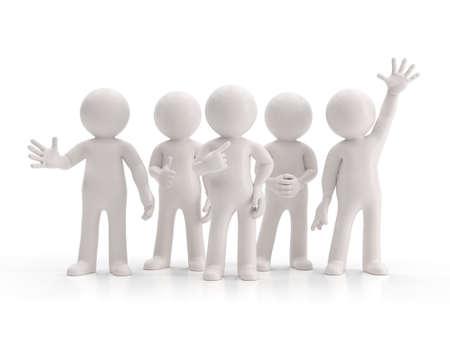 blanco: 3d pequeña gente - mejor grupo