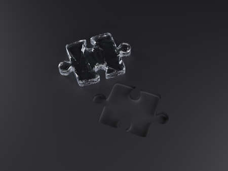 Puzzle piece, Isolated white background