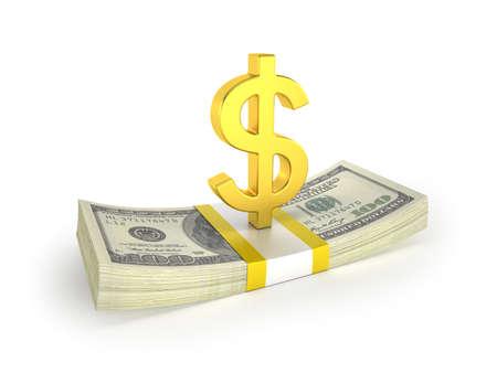 Money 3d, Isolated white background