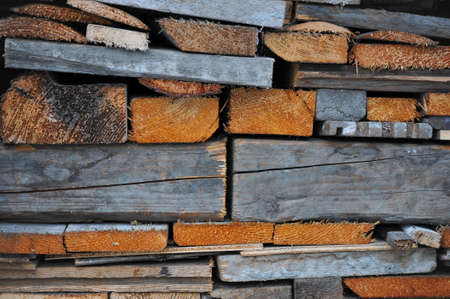Firewood on a building site Stock Photo - 17527056