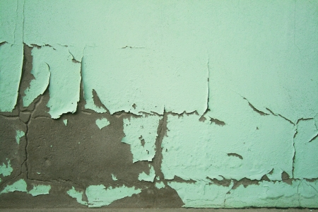 crack green wall Stock Photo - 17876605