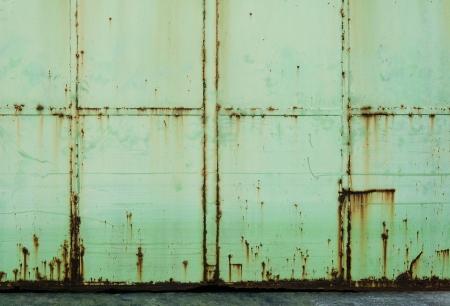 puerta verde: sucio �xido de metal verde puerta