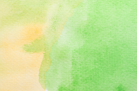 abstract green, yellow and white watercolor background. art hand paint