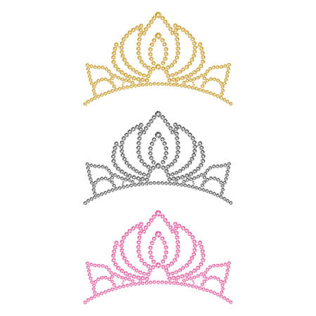 Women's crown. Set of three colors.