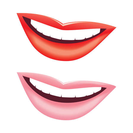 Beautiful women smile. Vector image.