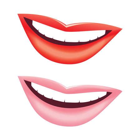 Beautiful women smile. Vector image.