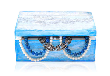 Handmade  jewelry  with pearl and silver inside. Stock Photo