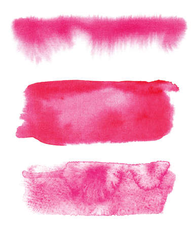 Handmade isolated watercolor brush on canvas.